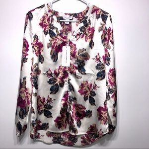 Carolina Belle Montreal Floral Blouse Size Small